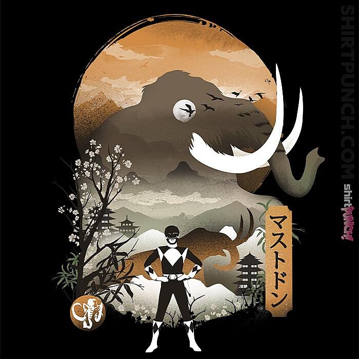 ShirtPunch: Black Ranger Ukiyoe