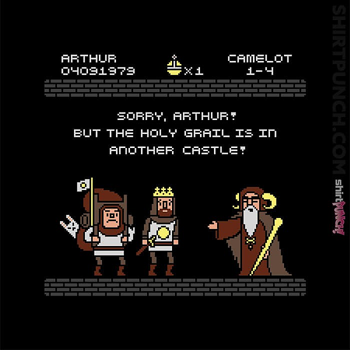 ShirtPunch: The Grail Is In The Other Castle