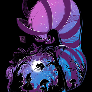 Qwertee: Purple Mad night