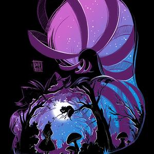 Qwertee: Purple Mad night