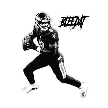 BustedTees: Bleedat (Lamar Jackson)