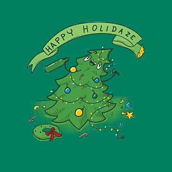 BustedTees: Happy Holidaze