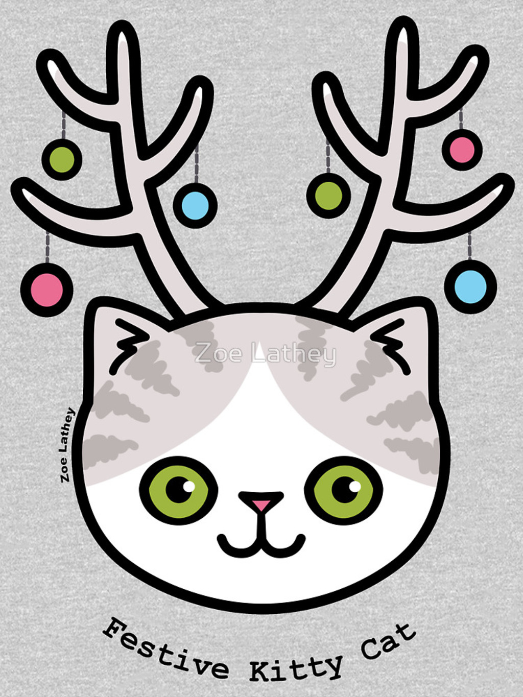 RedBubble: Festive Kitty Cat