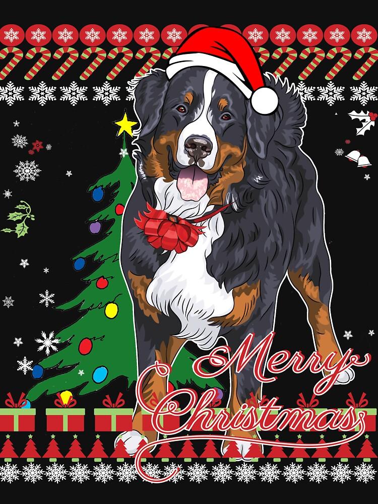 RedBubble: Bernese Mountain Dog Ugly Christmas Sweater Shirt