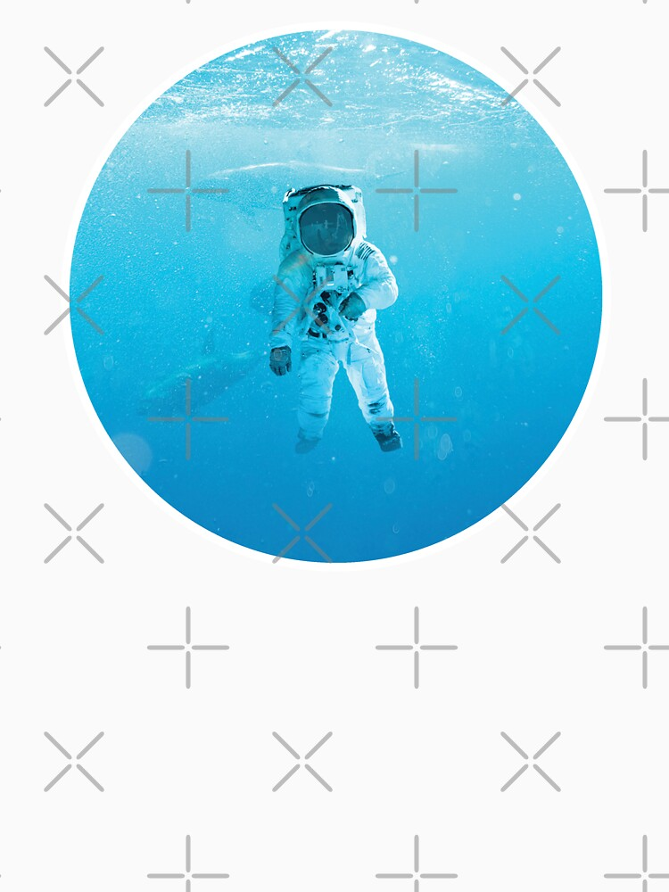 RedBubble: the spaceman in the sea sticker