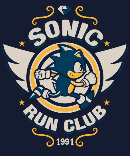 Qwertee: Sonic Run club