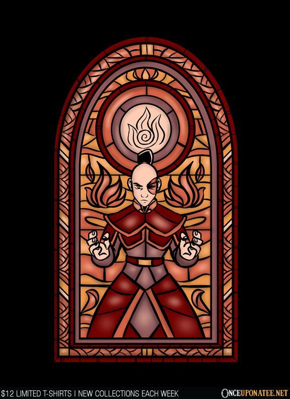 Once Upon a Tee: Stained Glass: Fire
