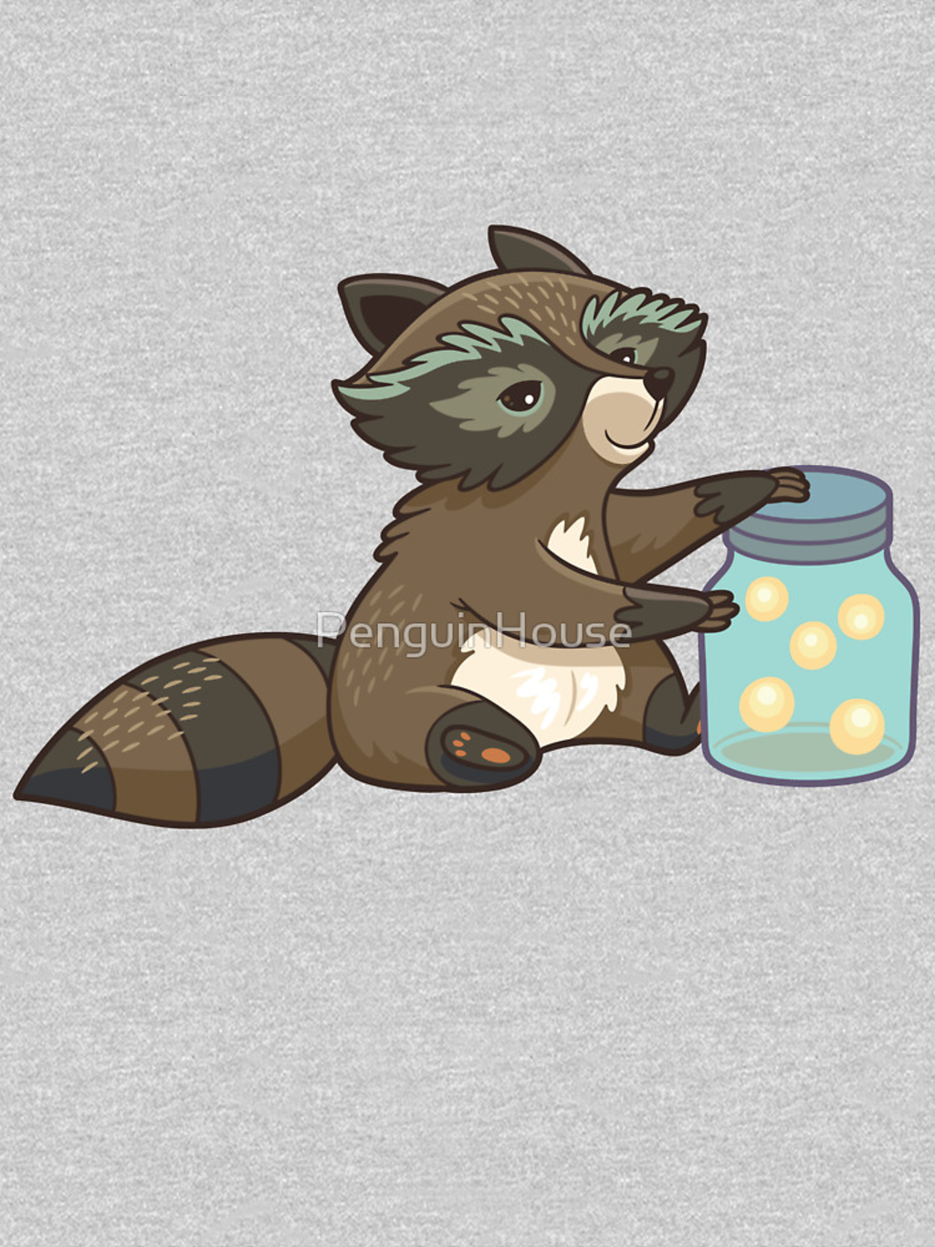 RedBubble: Funny little raccoon collects crickets