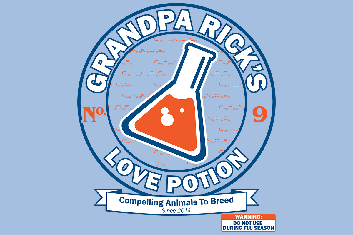 TeeMinus24: Grandpa Rick's Love Potion No. 9