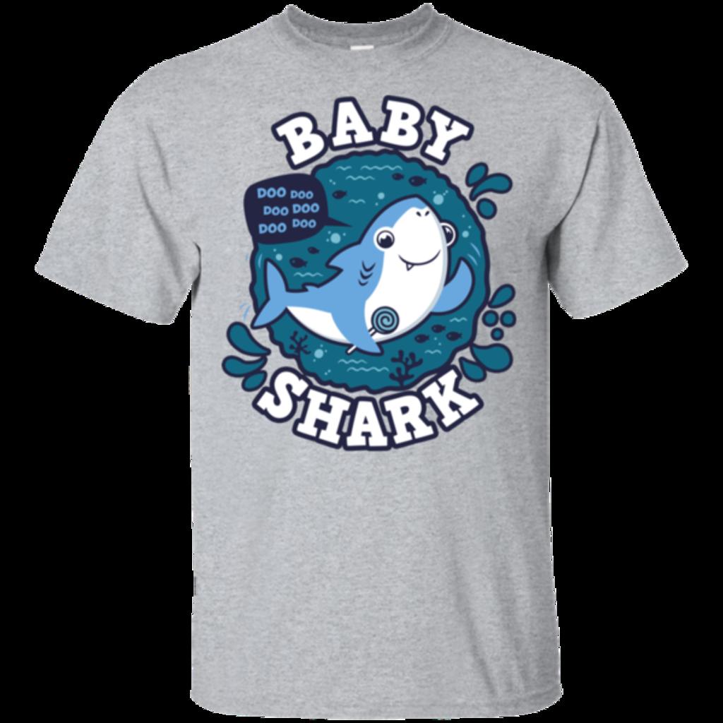 Pop-Up Tee: Shark Family trazo - Baby Boy