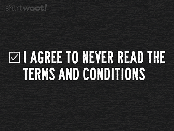 Woot!: Terms and Conditions