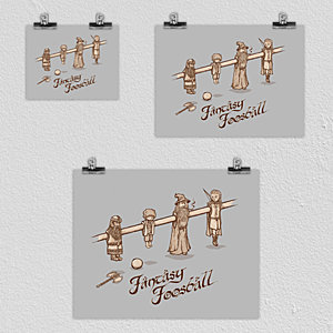 Woot!: Fantasy Foosball Poster