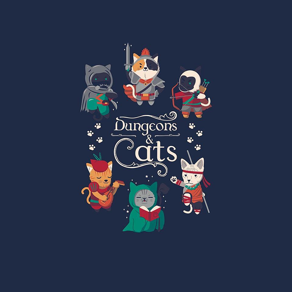 TeeFury: Dungeons & Cats 2