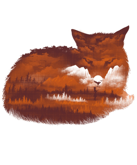 Qwertee: The Girl in the Red Forest