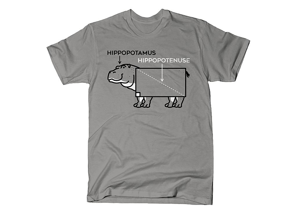 SnorgTees: Hippopotenuse