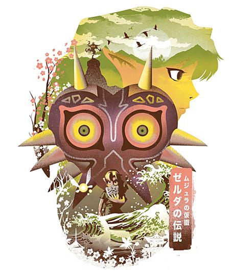 Qwertee: Mask Ukiyo e
