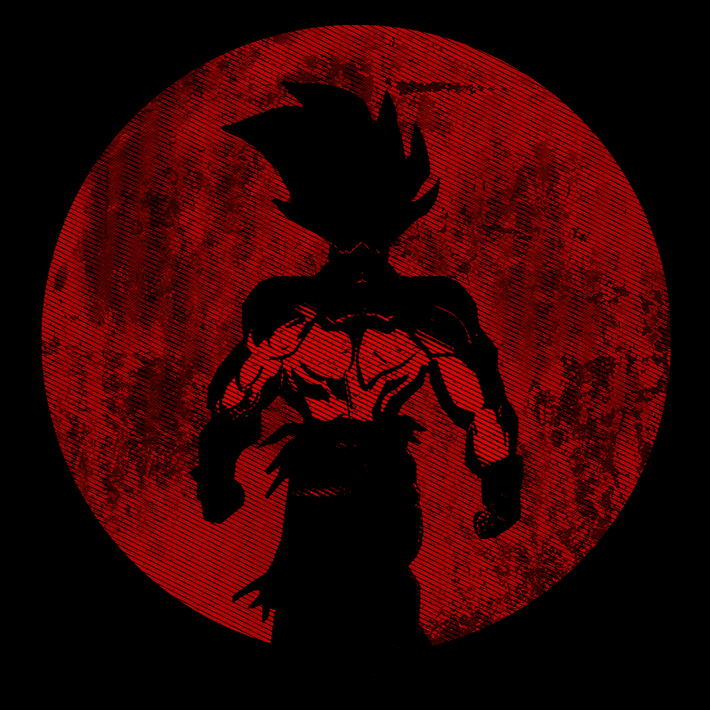 Pop-Up Tee: Crimson Saiyan Moon