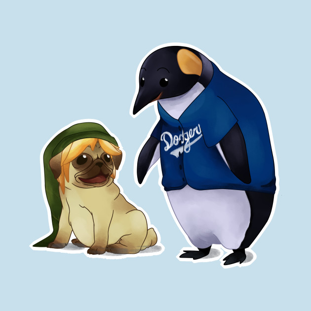 TeePublic: Pug & Penguin T-Shirt