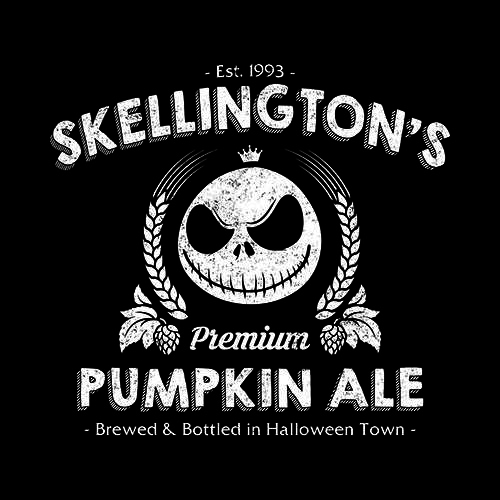 Five Finger Tees: Skellington's Pumpkin Ale T-Shirt