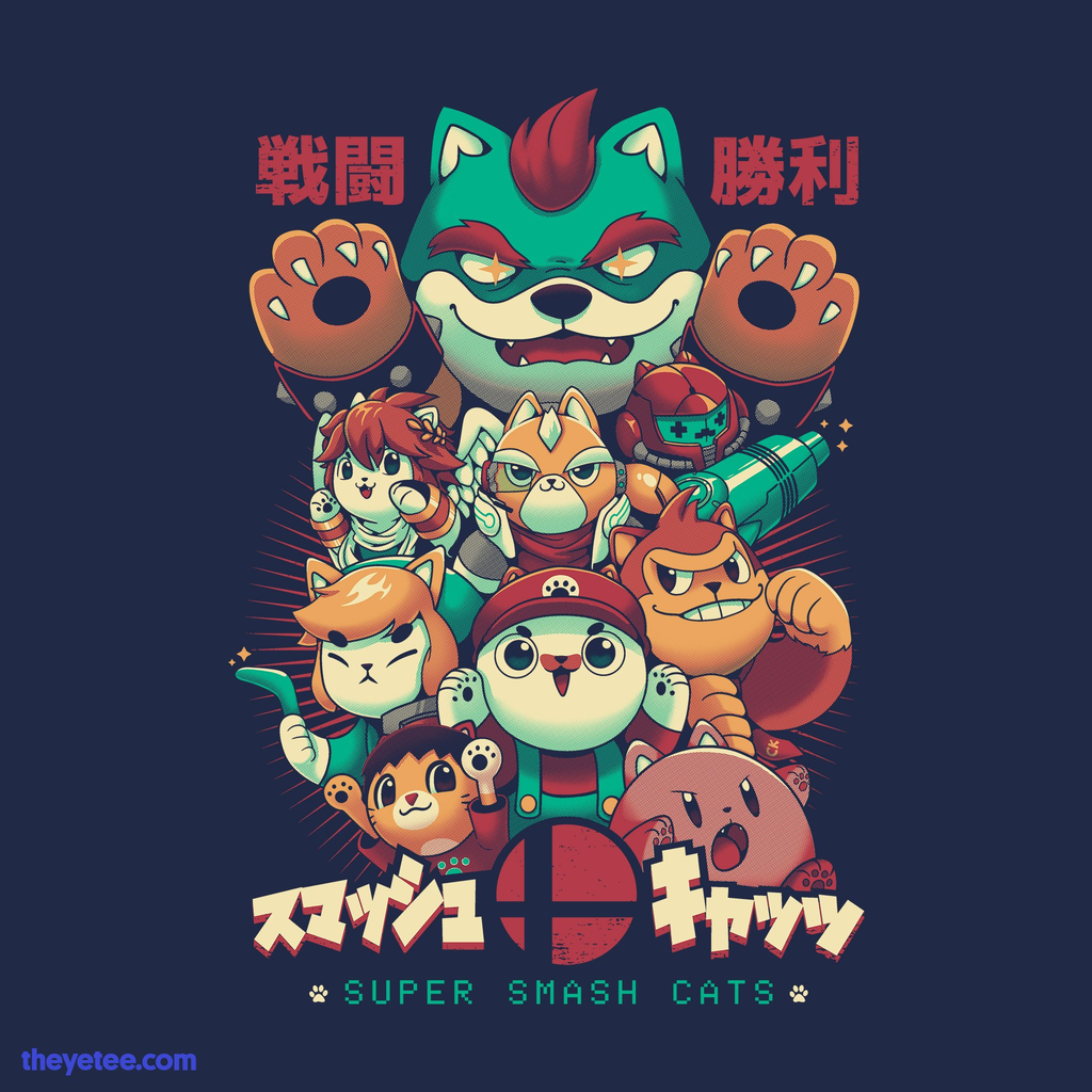 The Yetee: Smash Cats