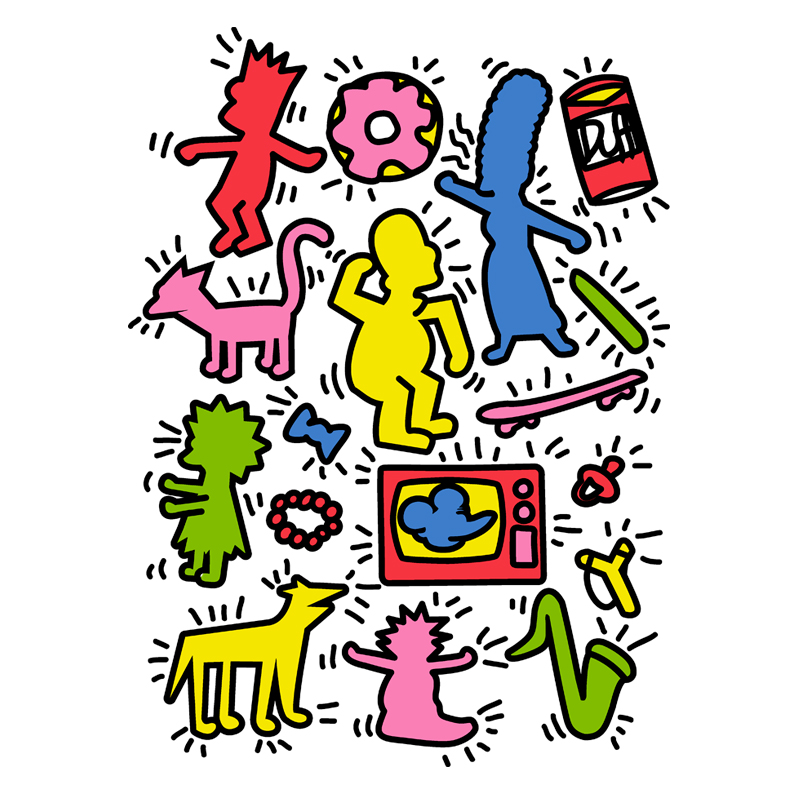 Pampling: Keith Haring Simpsons