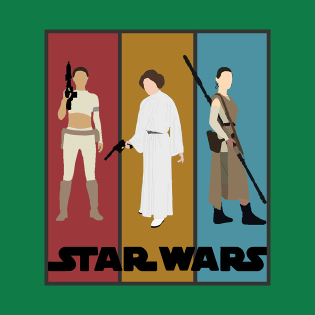 TeePublic: Star Wars' Bad Ass Ladies (With Border)