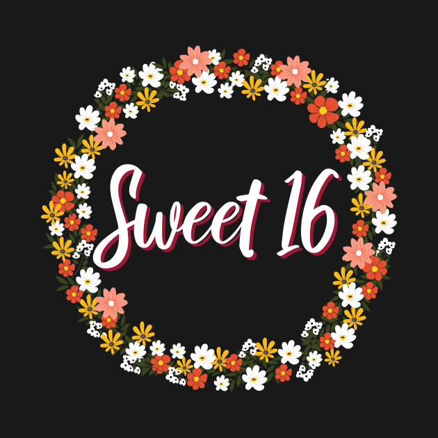 TeePublic: Sweet 16-th Birthday Party Gift   Sweet Sixteen