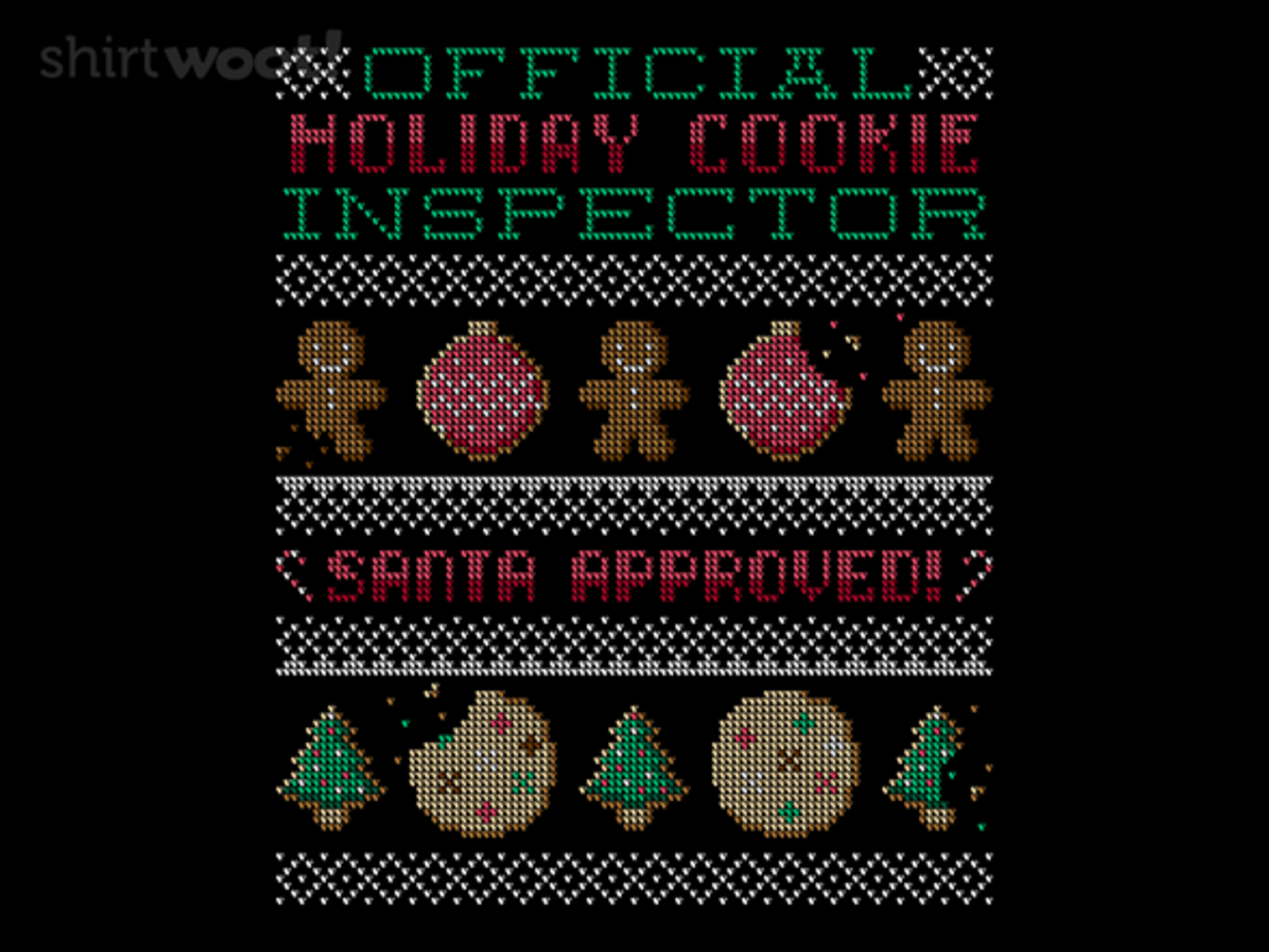 Woot!: Cookie Inspector Sweater