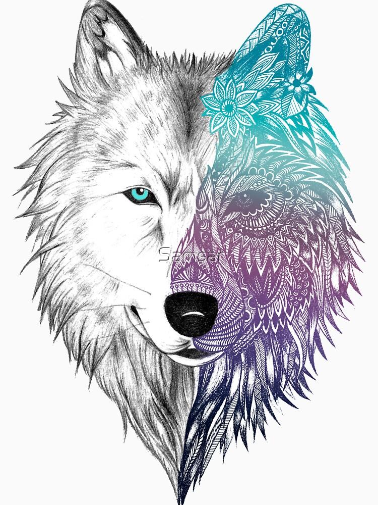 RedBubble: Wolf Mandala