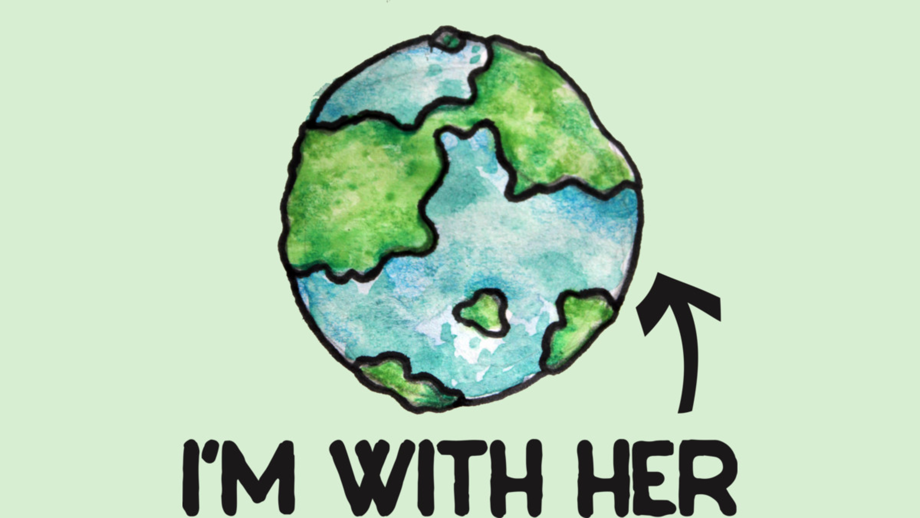 Design by Humans: I'm with her earth day