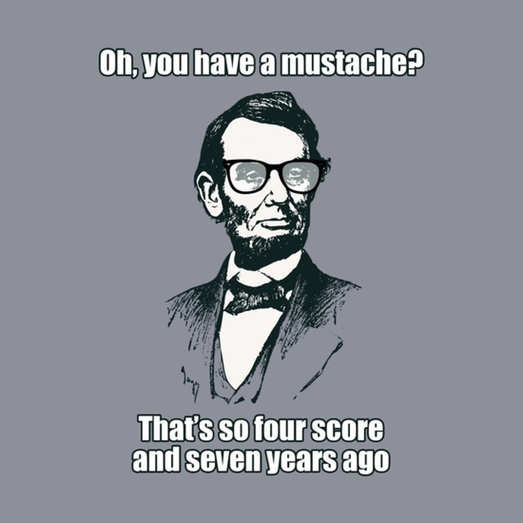 BustedTees: Hipster Abe