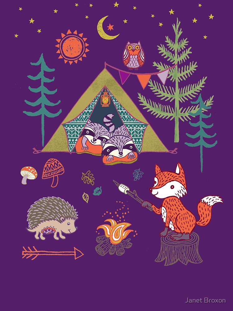 RedBubble: Woodland Animals Campout