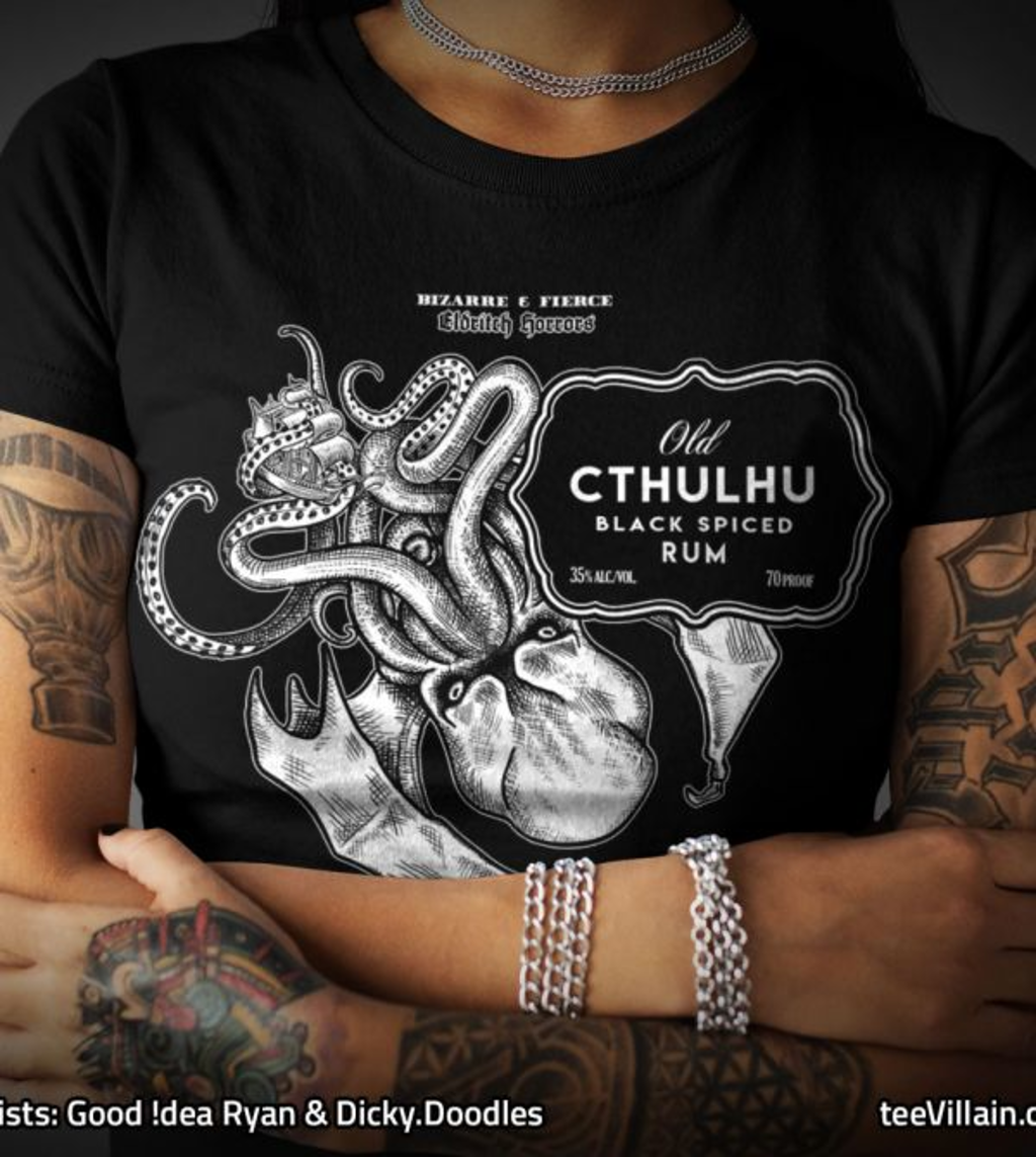 teeVillain: Old Cthulhu Rum