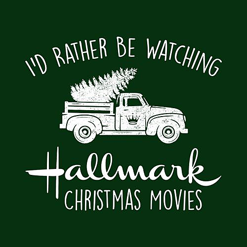 Five Finger Tees: I'd Rather Be Watching Hallmark Christmas Movies T-Shirt