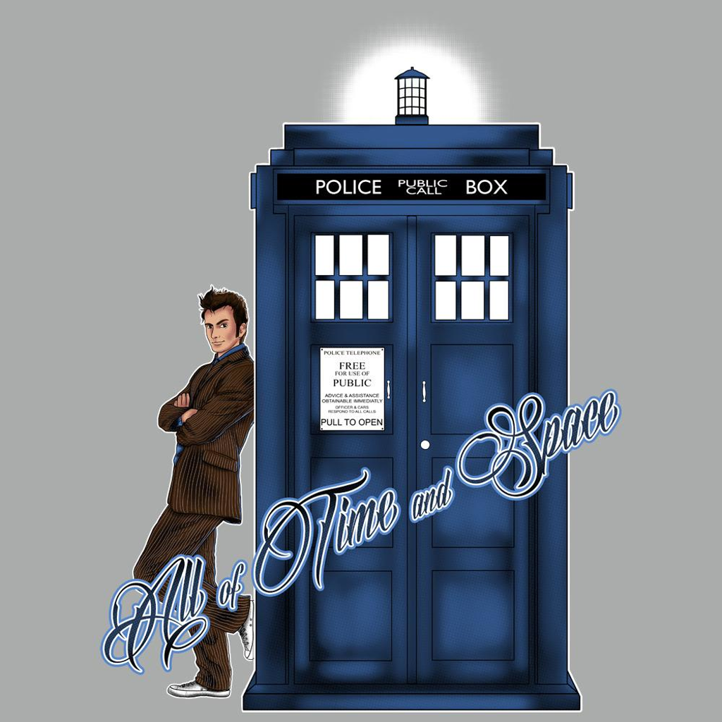 Blue Box Tees: All of Time and Space Tennant