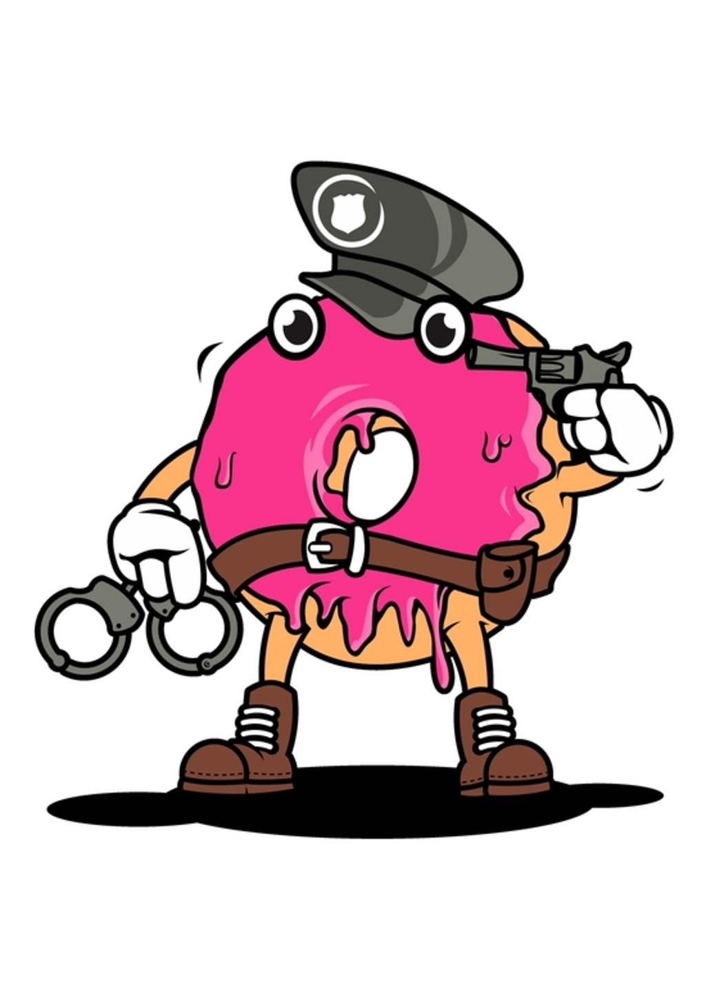 BustedTees: police donut