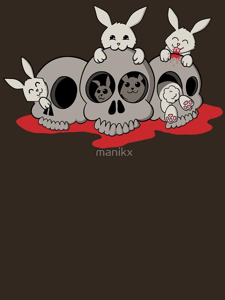 RedBubble: Bunnies and skulls