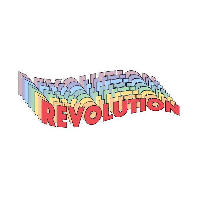 TeePublic: Revolution Rainbow