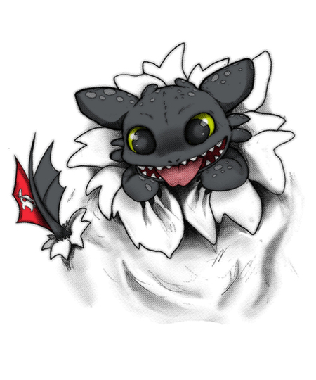 Qwertee: Toothless chibi