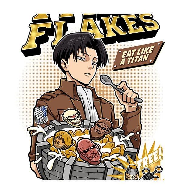 RedBubble: Titan Flakes ( Shingeki no Kyojin )
