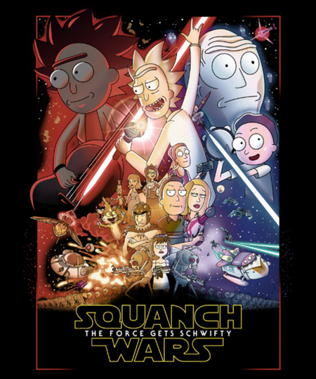 Qwertee: Squanch Wars