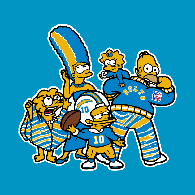 TeePublic: The Simpsons Los Angeles Chargers