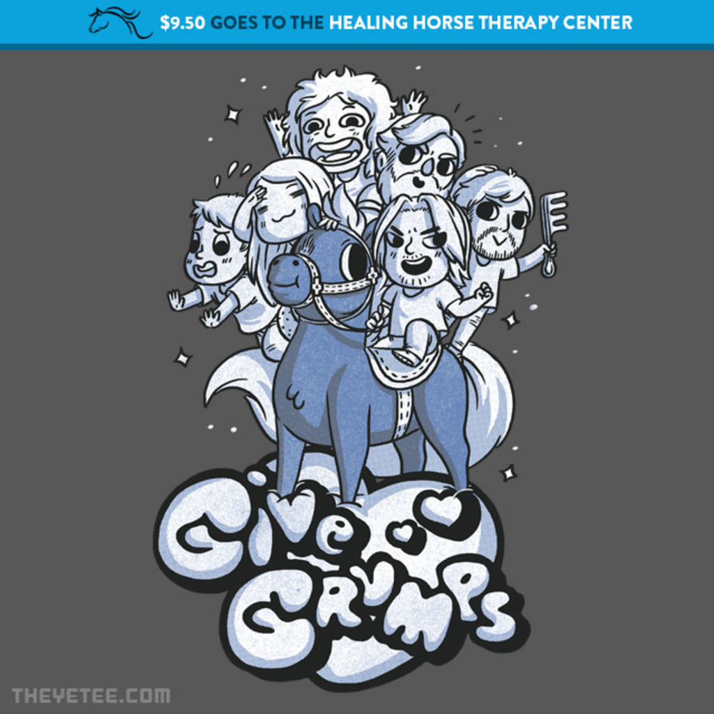 The Yetee: Give Grumps Horsin' Around