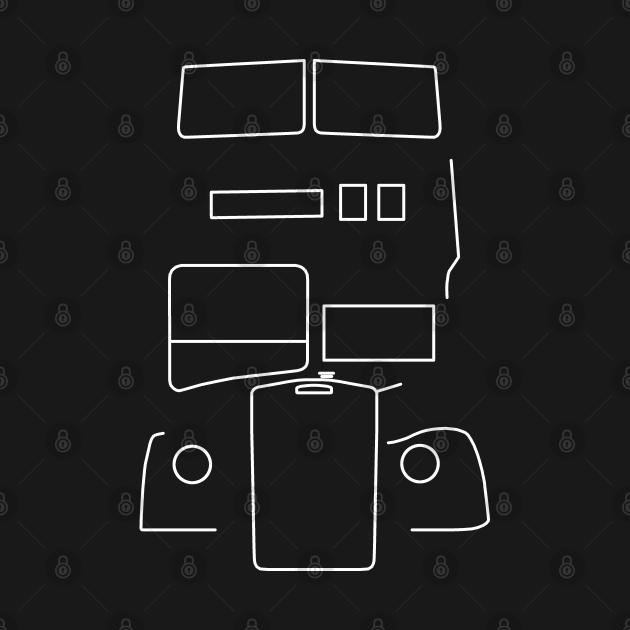 TeePublic: Leyland Titan double decker bus outline (white)