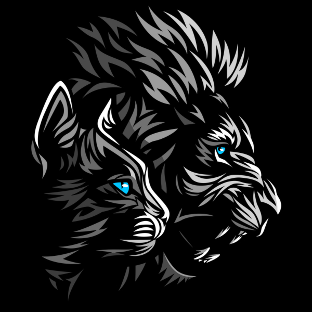 NeatoShop: Tribal shadows Lion Cat