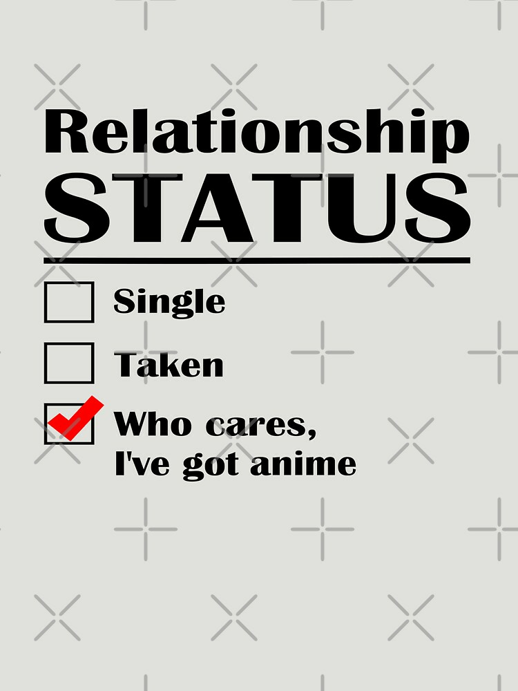 RedBubble: Relationship Status Anime