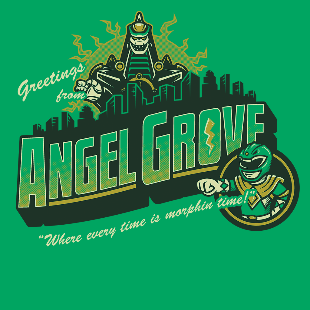 Pop-Up Tee: Greetings from Angel Grove