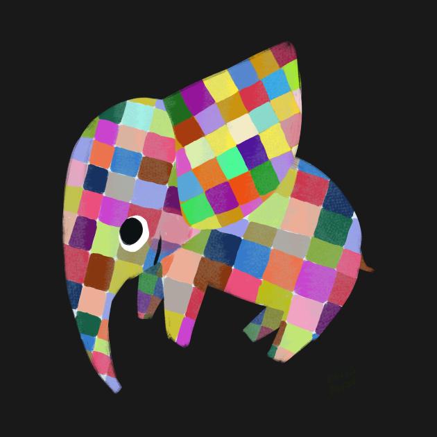 TeePublic: Elmer the Patchwork Elephant