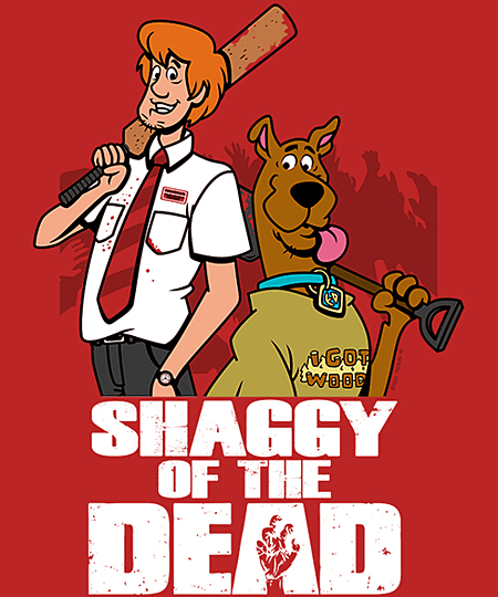 Qwertee: Shaggy of the dead