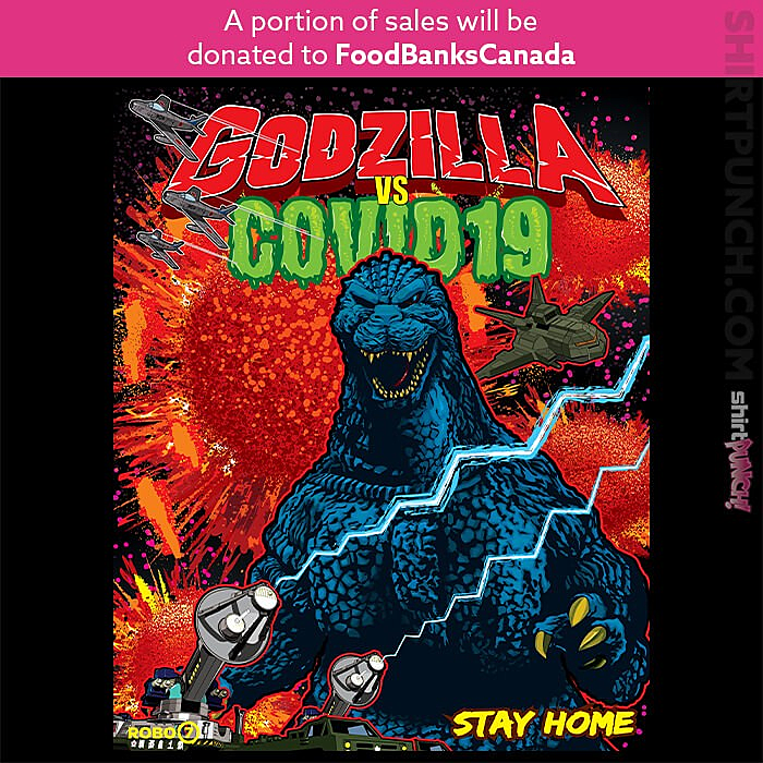 ShirtPunch: Godzilla VS COVID-19